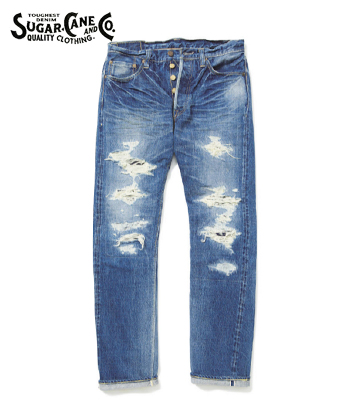 SUGAR CANE LONE STAR JEANS SLIM FIT 10YEAR AGED